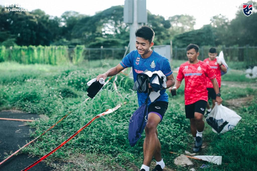 U22 Thai Lan den san tap muon vi ket xe o Manila hinh anh 1