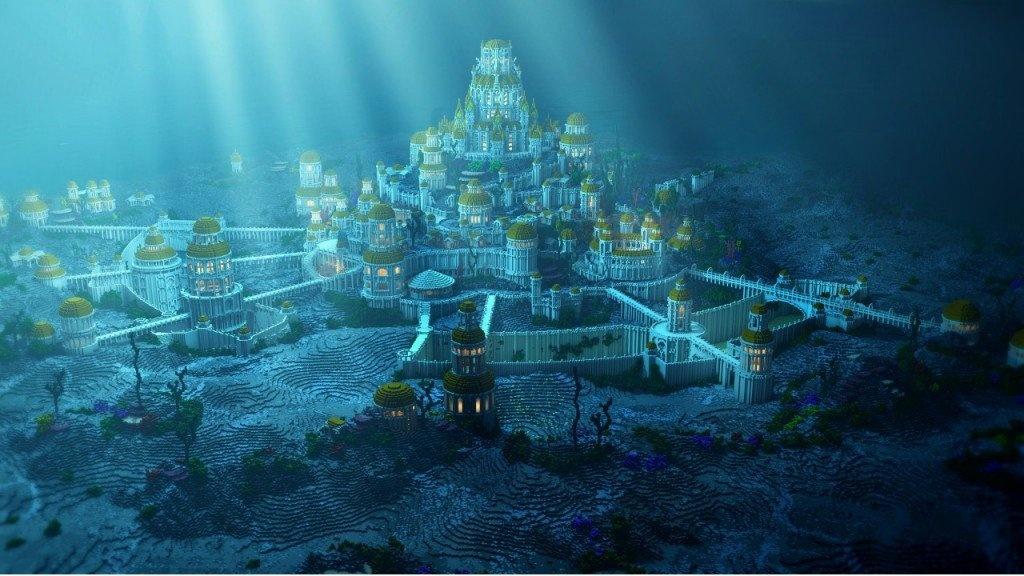 Huyen thoai ve thanh pho Atlantis mat tich duoi day bien hinh anh 1