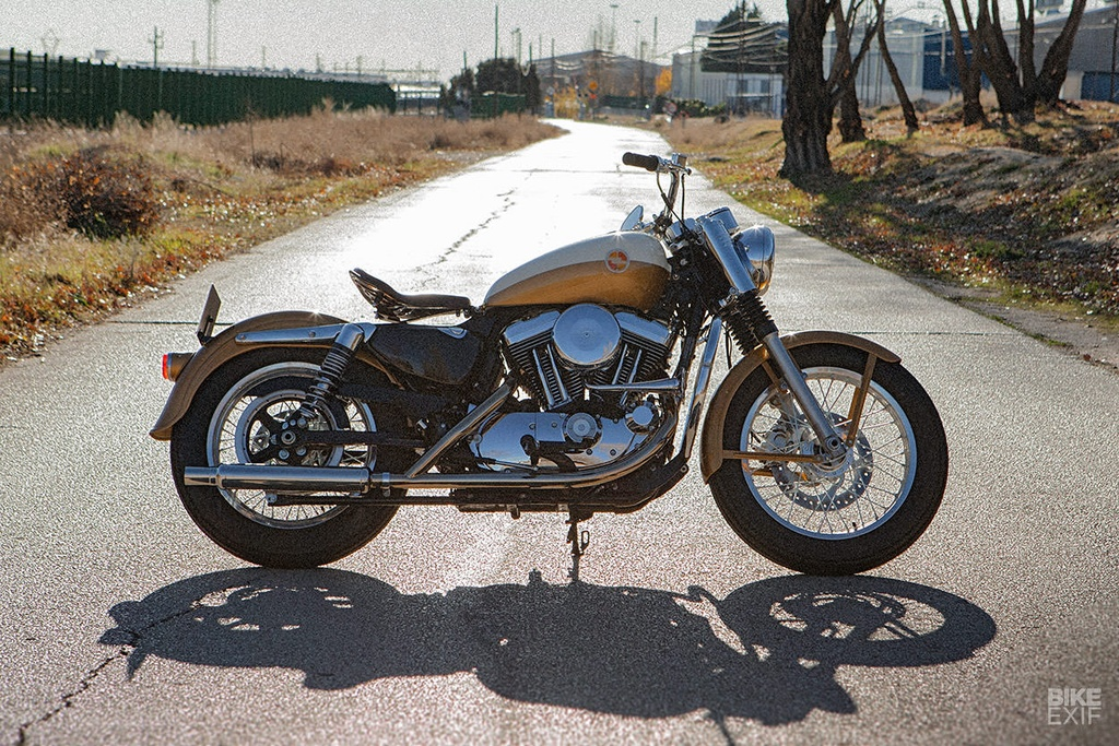 Harley-Davidson Sportster 1957 do phong cach co dien hinh anh 7
