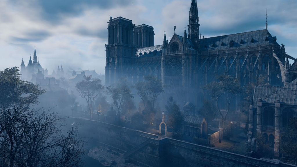Co mot Nha tho Duc Ba nguyen ven trong game Assassin's Creed Unity hinh anh 10