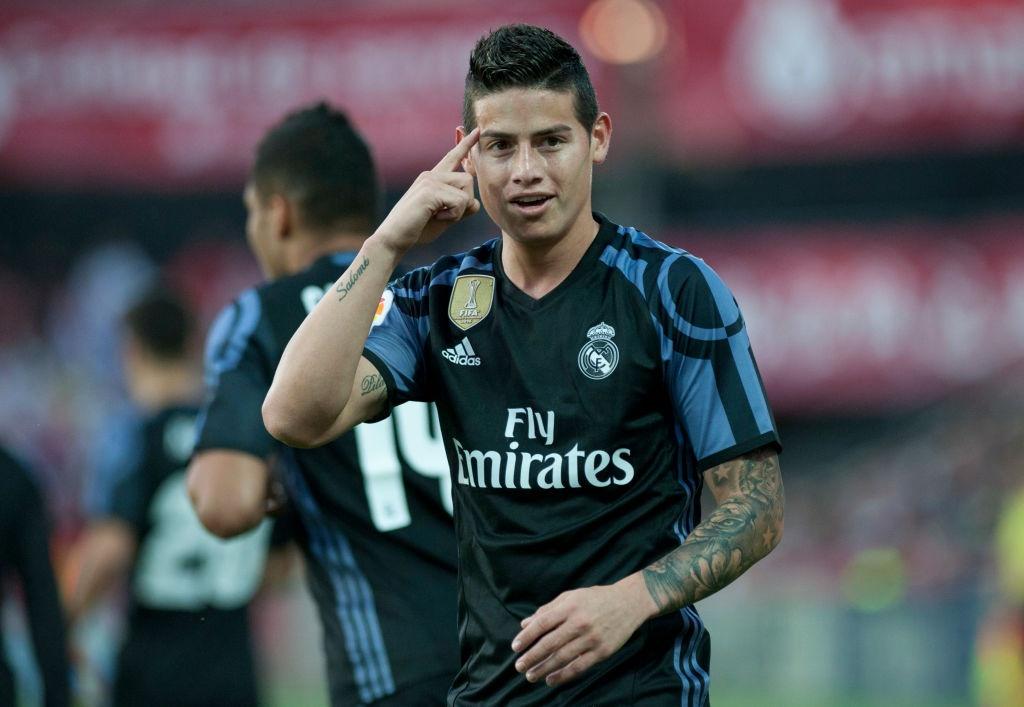 James, Morata lap cu dup giup Real bam duoi Barca hinh anh 1