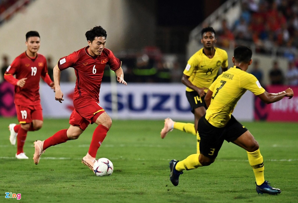 Quang Hai,  Xuan Truong,  Malaysia,  chung ket AFF Cup 2018 anh 4