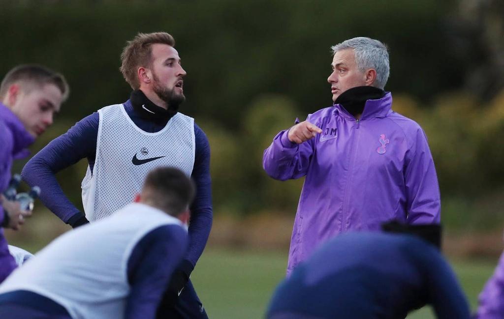 Mourinho hao hung trong buoi tap dau voi Son, Kane hinh anh 4