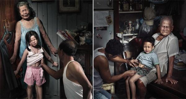 Bi danh dap, tre em Bangkok ra duong lam nguoi vo gia cu hinh anh 2 Leo_Burnett.jpg