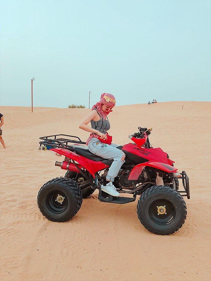 'Hot girl co vu World Cup' Tram Anh sang chanh trong anh du lich Dubai hinh anh 11