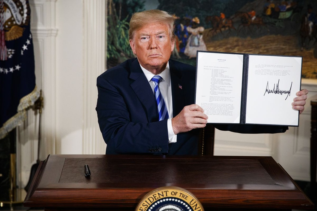 Dam phan My - Trieu ra sao sau khi Trump tu bo thoa thuan Iran? hinh anh 1
