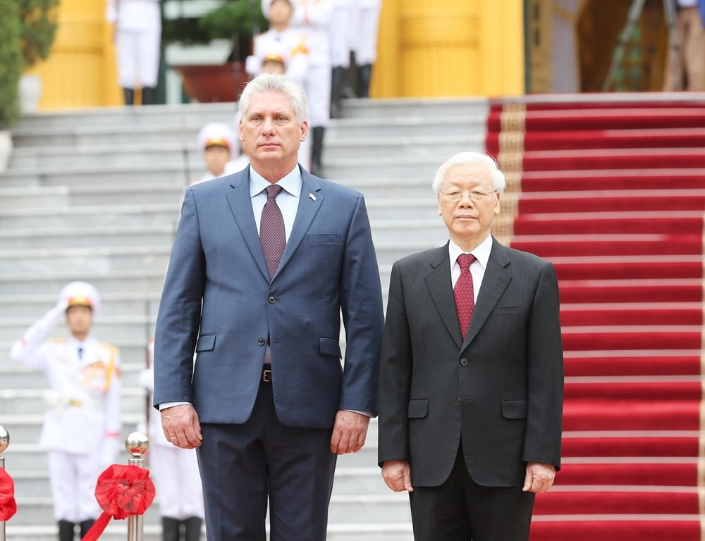 Tong bi thu, Chu tich nuoc don Chu tich Cuba tham Viet Nam hinh anh 5