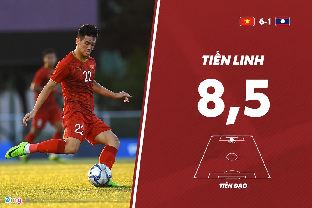 Tien Linh noi bat trong tran Viet Nam thang U22 Lao 6-1 hinh anh 11