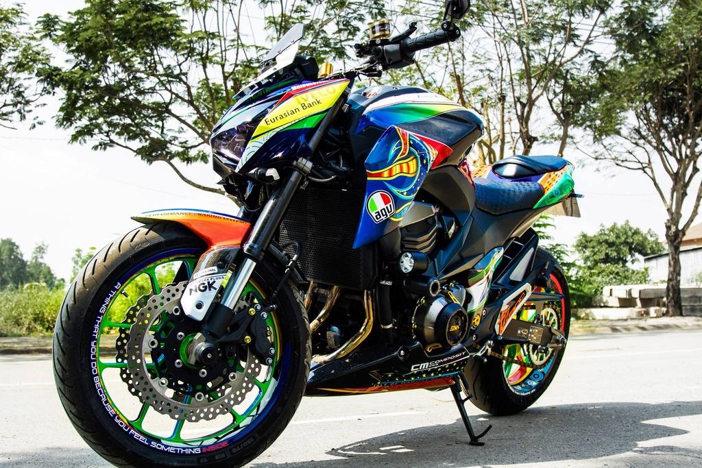 Kawasaki Z800 len do choi hang hieu cua biker An Giang hinh anh 1