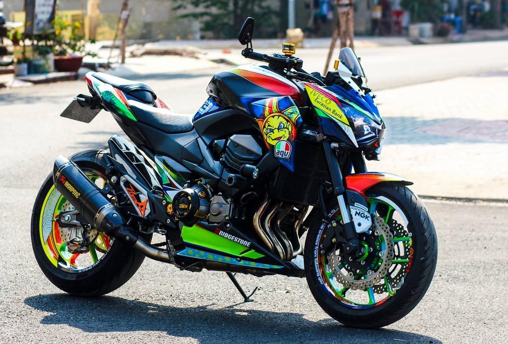 Kawasaki Z800 len do choi hang hieu cua biker An Giang hinh anh 2