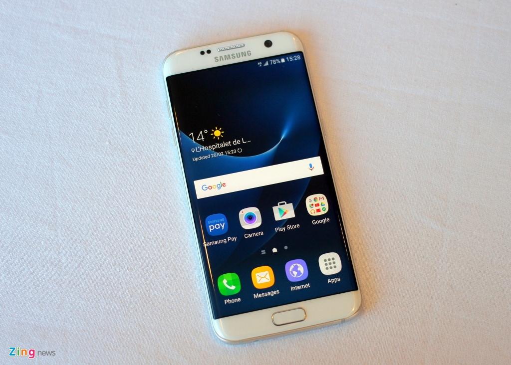 Anh, video thuc te Galaxy S7 edge voi man hinh cong 2 mat hinh anh 15