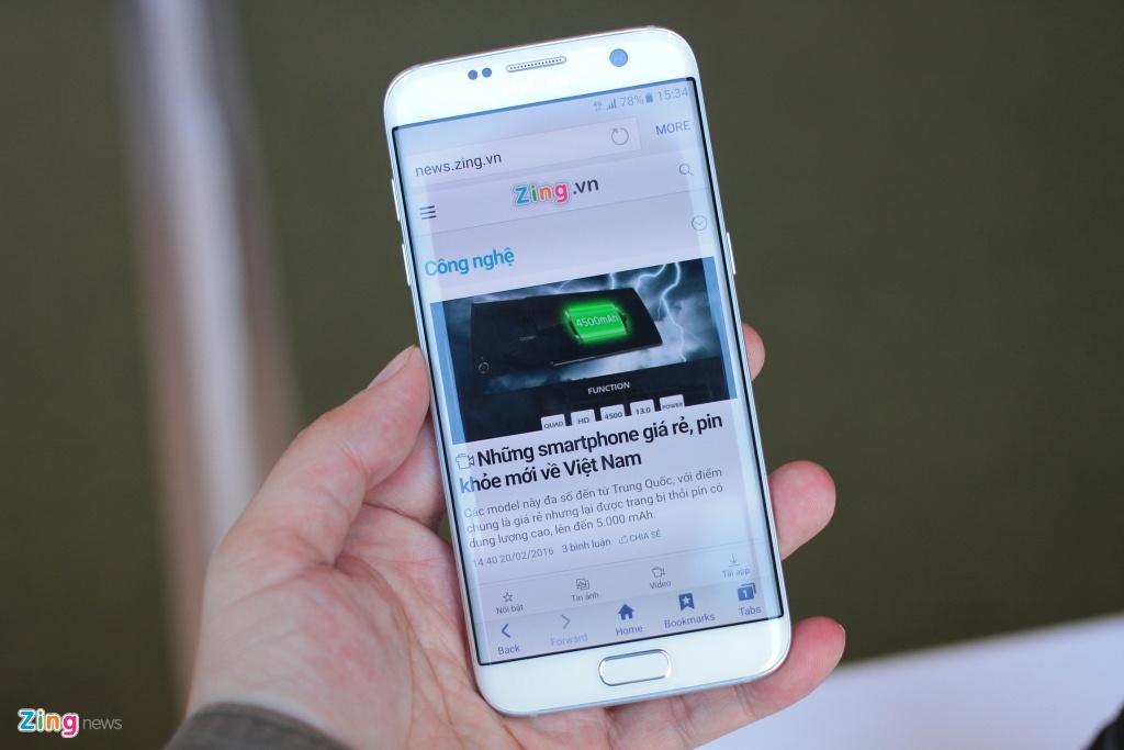 Anh, video thuc te Galaxy S7 edge voi man hinh cong 2 mat hinh anh 2