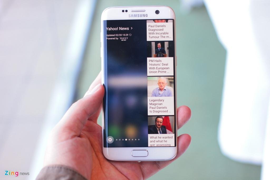Anh, video thuc te Galaxy S7 edge voi man hinh cong 2 mat hinh anh 4