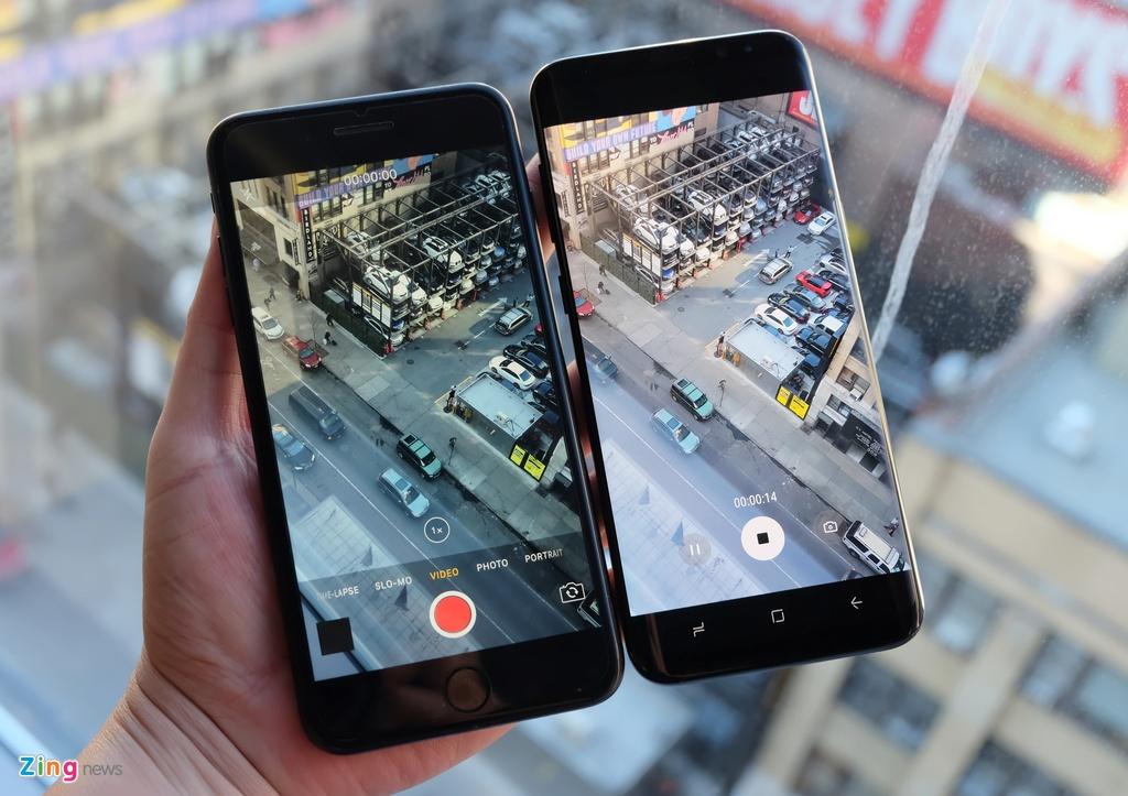 Galaxy S8+ so dang iPhone 7 Plus: Nho hon du man hinh lon hinh anh 5
