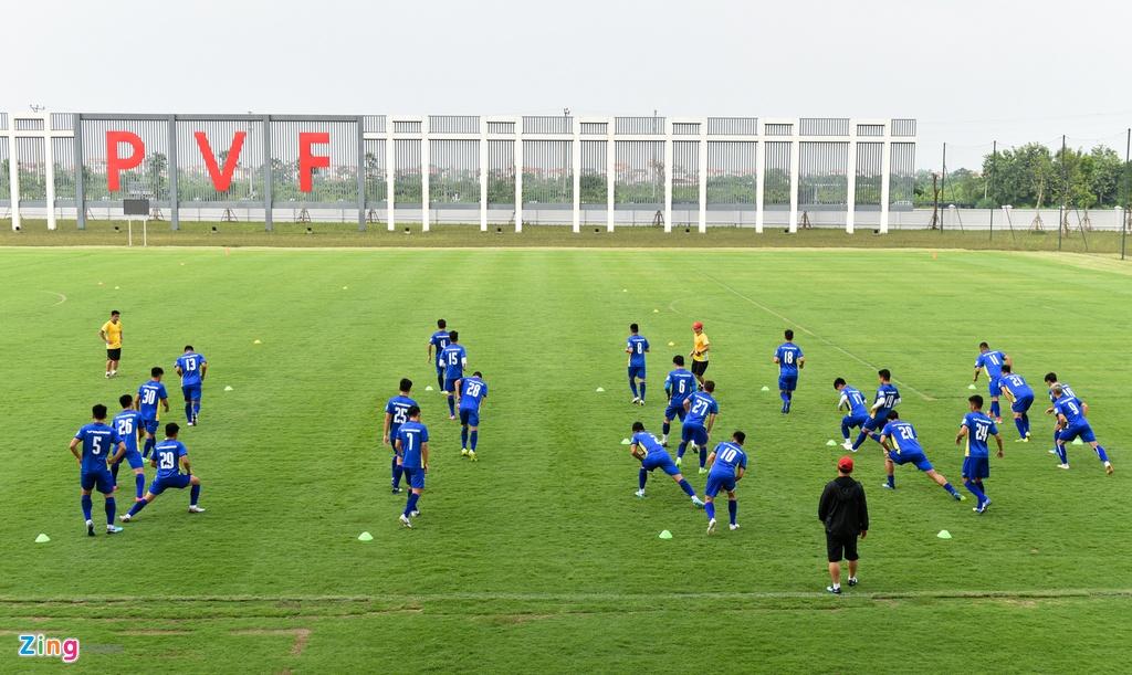 Cong Phuong, Van Toan vui ve trong buoi tap cua U23 VN hinh anh 1