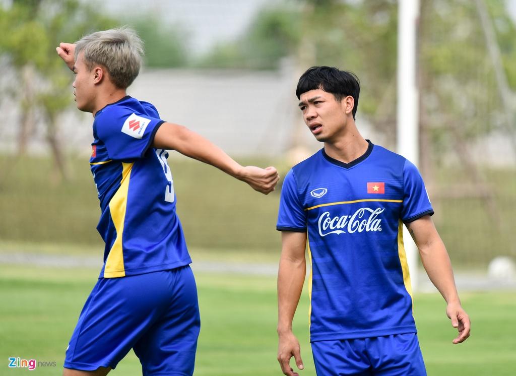 Cong Phuong, Van Toan vui ve trong buoi tap cua U23 VN hinh anh 3