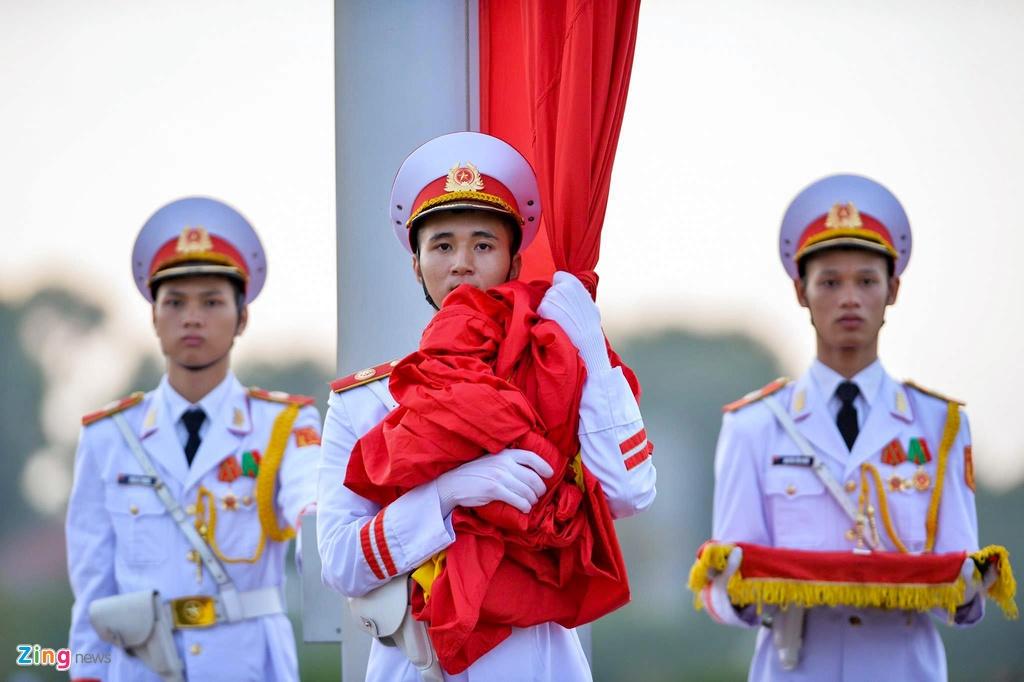 Nghi le thuong co o Lang Chu tich Ho Chi Minh hinh anh 5