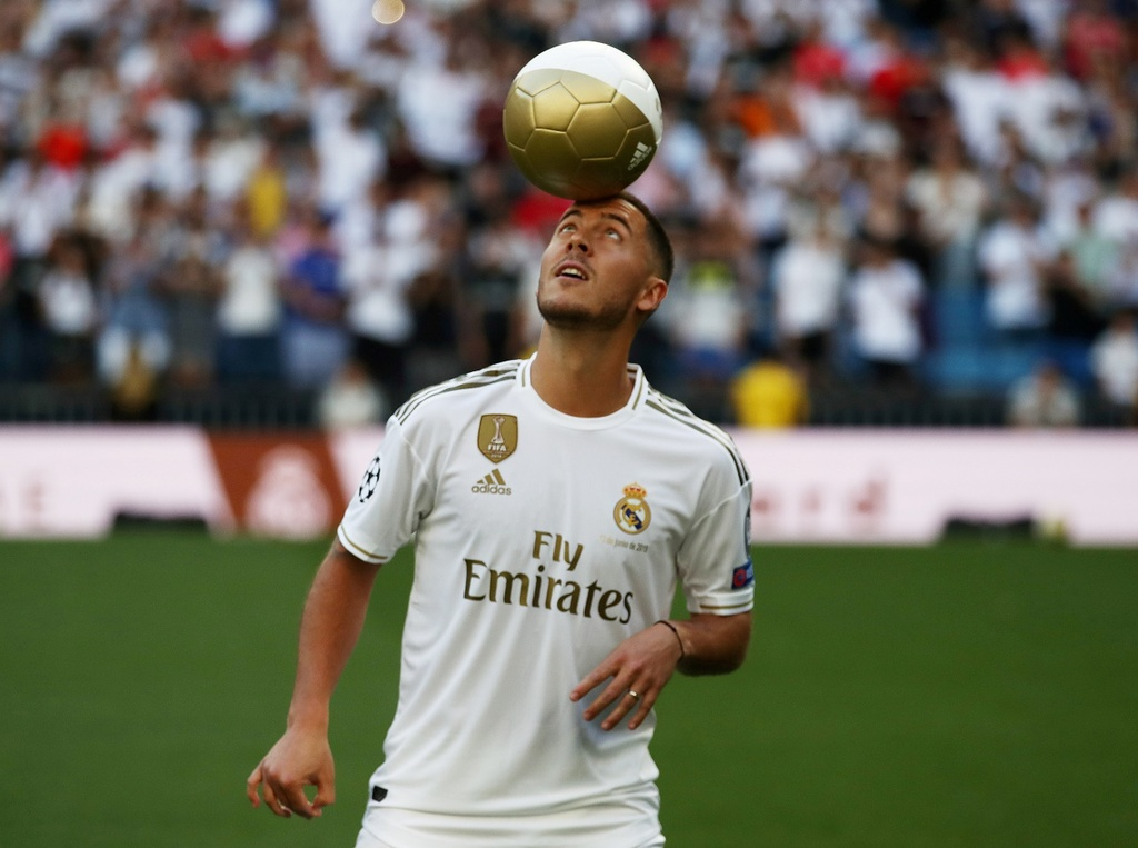 Real Madrid len ke hoach xay dung doi hinh voi Pogba, Mbappe hinh anh 12 2020_01_15T123016Z_1799757155_RC2CGE9UOEYP_RTRMADP_3_SOCCER_SPAIN_MAD_HAZARD.JPG