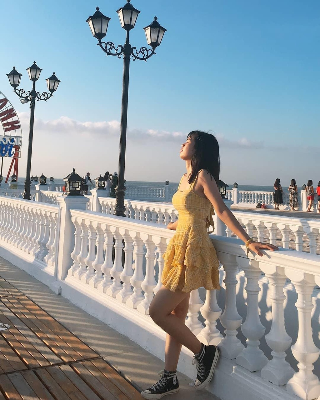 Check-in lien tay cau cang Hai Tien dep tua troi Tay o Thanh Hoa hinh anh 1