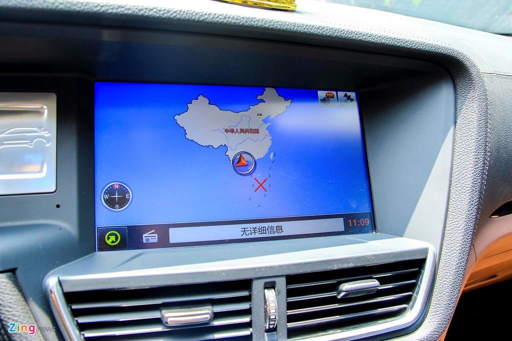 Bản đồ trên ôtô Trung Quốc bán tại Việt Nam xuất hiện đường lưỡi bò