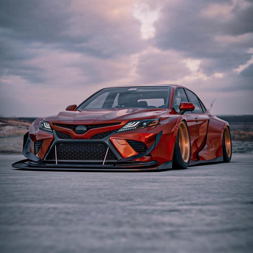 Toyota Camry lot xac du dan voi body kit than rong hinh anh 1 701628.jpg