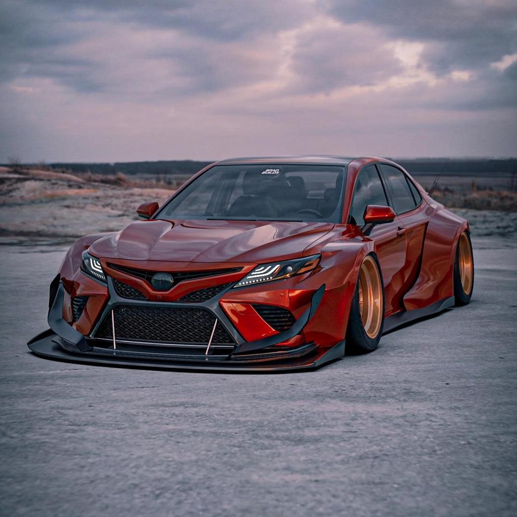Toyota Camry lot xac du dan voi body kit than rong hinh anh 6 701631.jpg