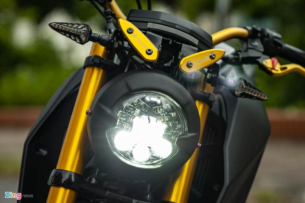 Yamaha TFX 150 lot xac hoan toan theo phong cach cafe racer tai Ha Noi hinh anh 2 TFX_do_zing_26_.jpg