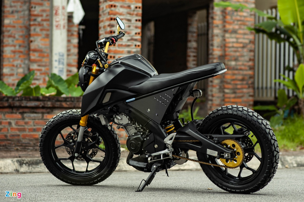 Yamaha TFX 150 lot xac hoan toan theo phong cach cafe racer tai Ha Noi hinh anh 6 TFX_do_zing_27_.jpg
