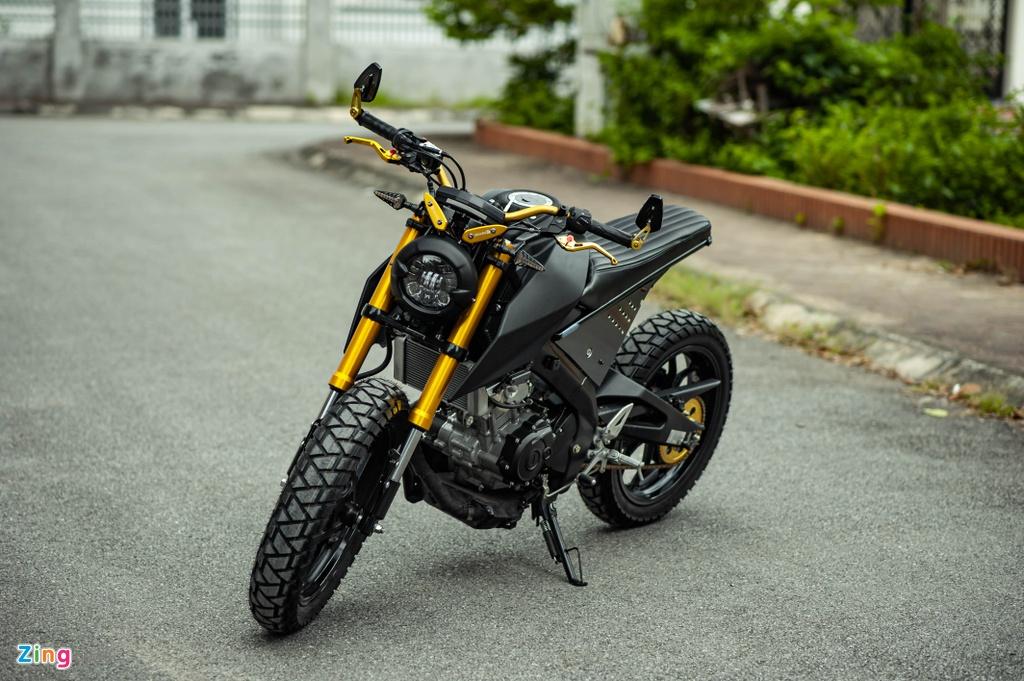 Yamaha TFX 150 lot xac hoan toan theo phong cach cafe racer tai Ha Noi hinh anh 1 TFX_do_zing_2_.jpg