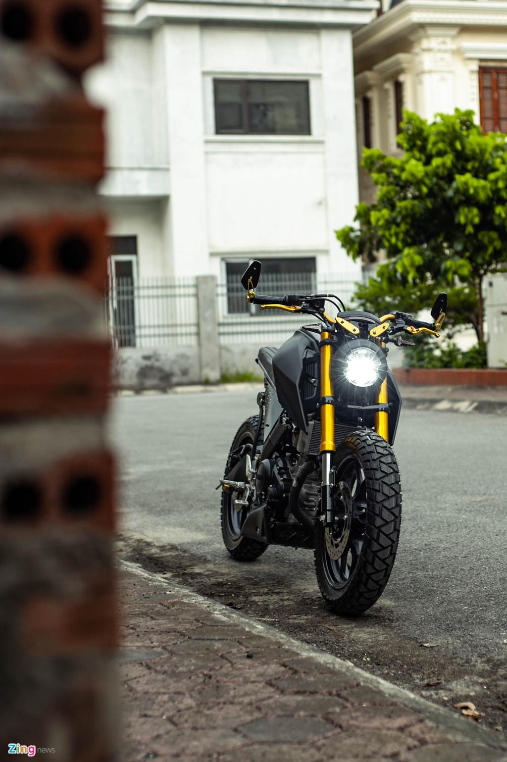 Yamaha TFX 150 lot xac hoan toan theo phong cach cafe racer tai Ha Noi hinh anh 9 TFX_do_zing_45_.jpg