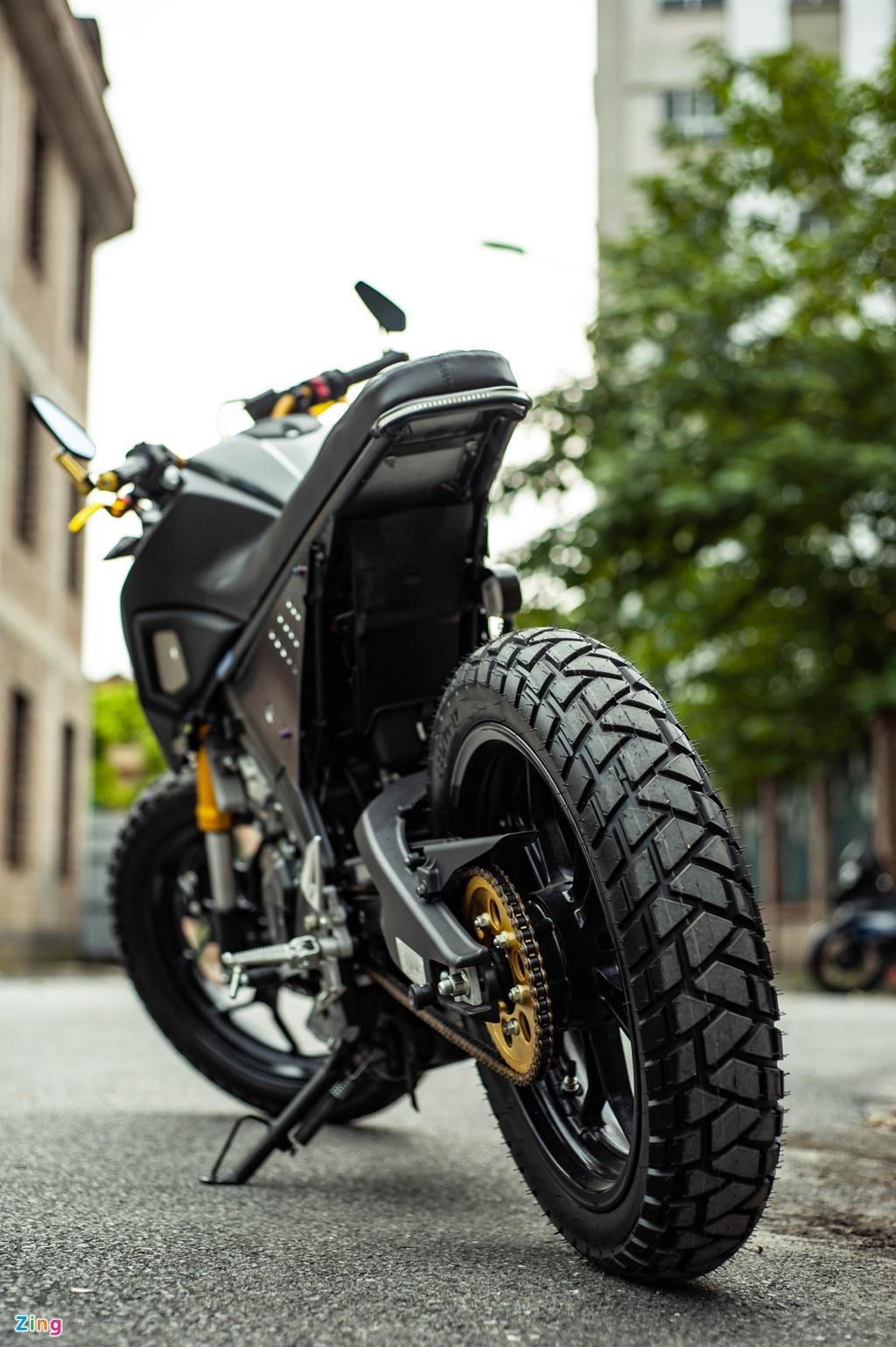 Yamaha TFX 150 lot xac hoan toan theo phong cach cafe racer tai Ha Noi hinh anh 8 TFX_do_zing_47_.jpg