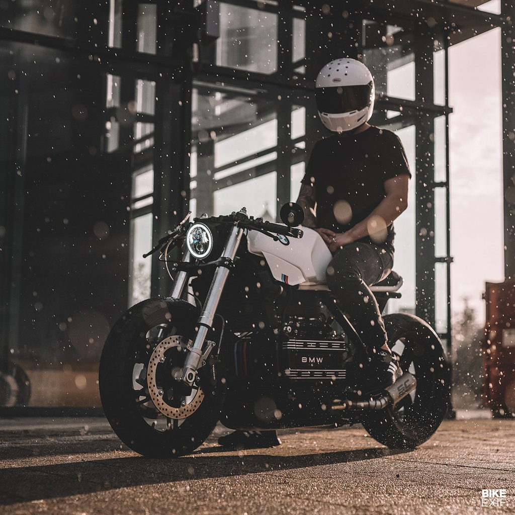 BMW K100RS do phong cach cafe racer anh 2