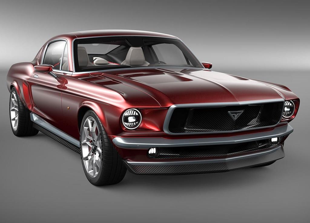 Hang xe Nga che tao xe dien tu Tesla Model S va Ford Mustang anh 1