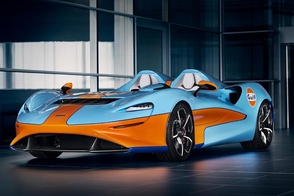 Sieu xe McLaren Elva Gulf Theme sap duoc ra mat anh 3