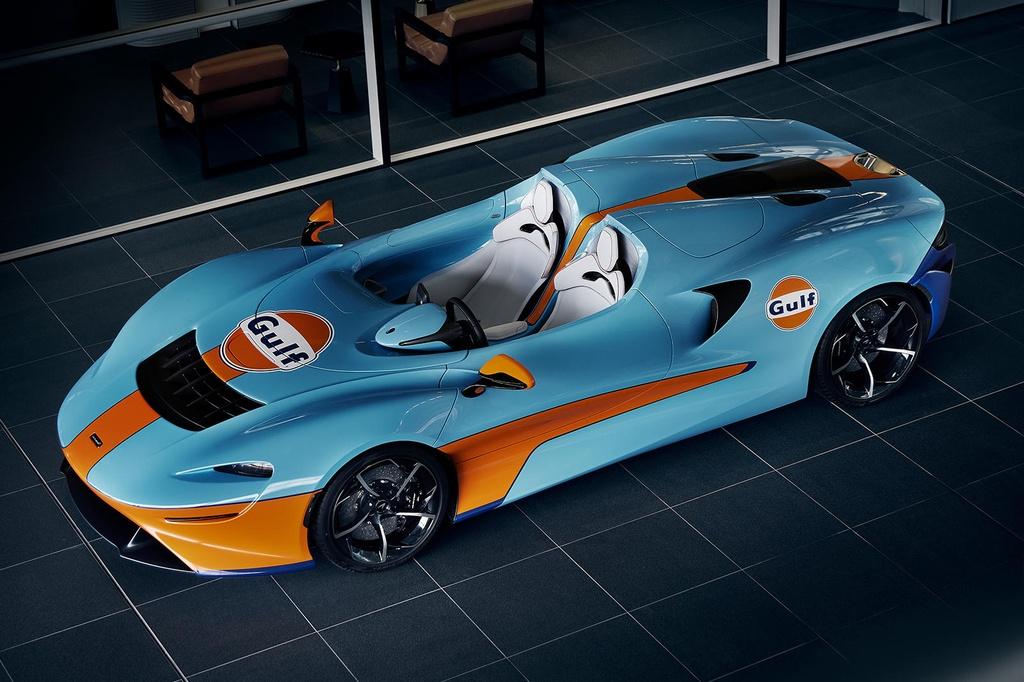 Sieu xe McLaren Elva Gulf Theme sap duoc ra mat anh 2