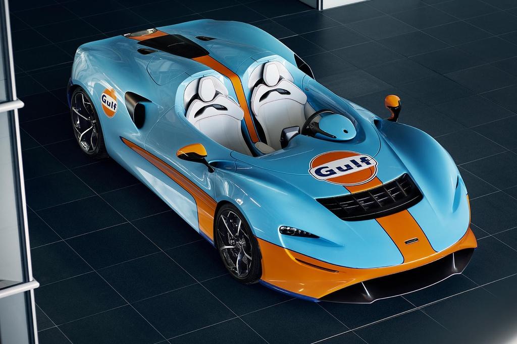Sieu xe McLaren Elva Gulf Theme sap duoc ra mat anh 1