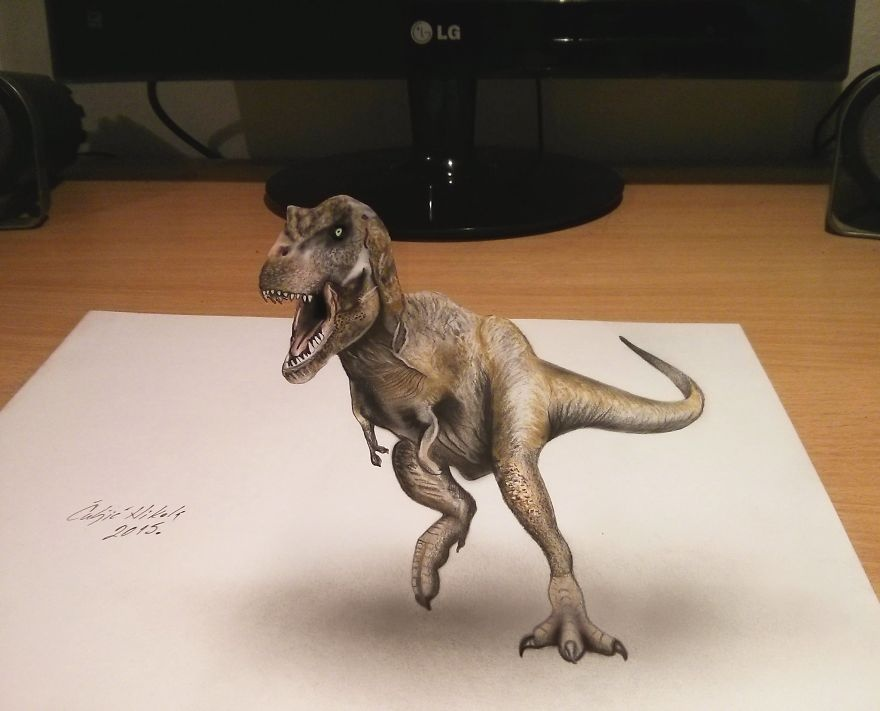 Chang trai ve tranh 3D danh lua thi giac nguoi xem hinh anh 7