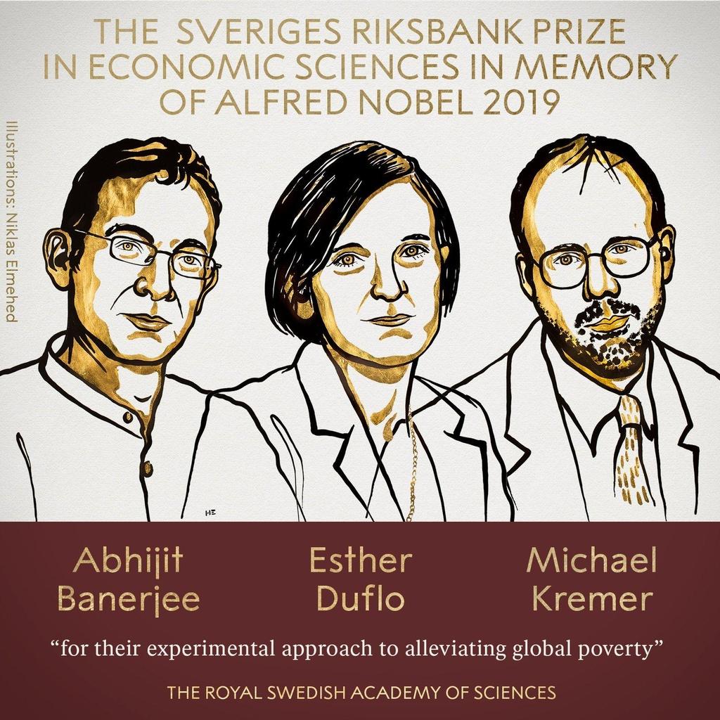 Nobel Kinh te 2019 vinh danh 3 nha khoa hoc giup 'xoa doi giam ngheo' hinh anh 1
