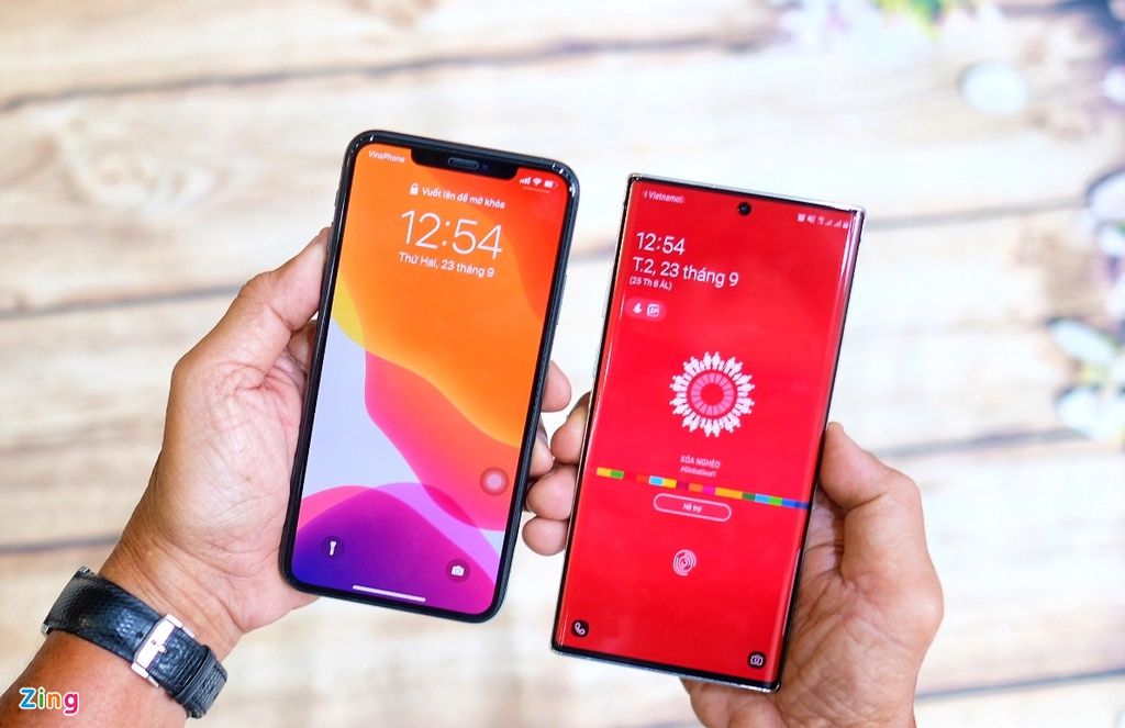 iPhone 11 Pro Max do dang voi Galaxy Note10+ anh 10