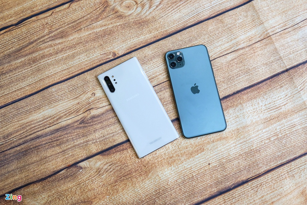 iPhone 11 Pro Max do dang voi Galaxy Note10+ anh 2