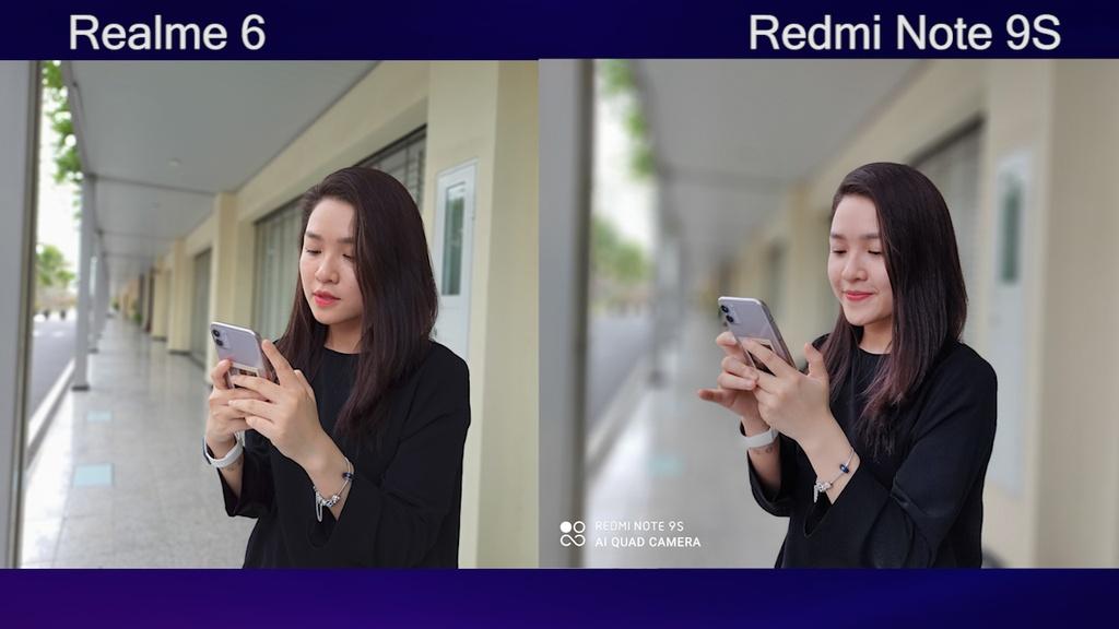 So sanh Redmi Note 9S voi Realme 6 anh 7