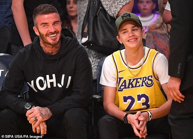 Con trai 17 tuoi gay chu y khi di xem bong ro cung David Beckham hinh anh 1