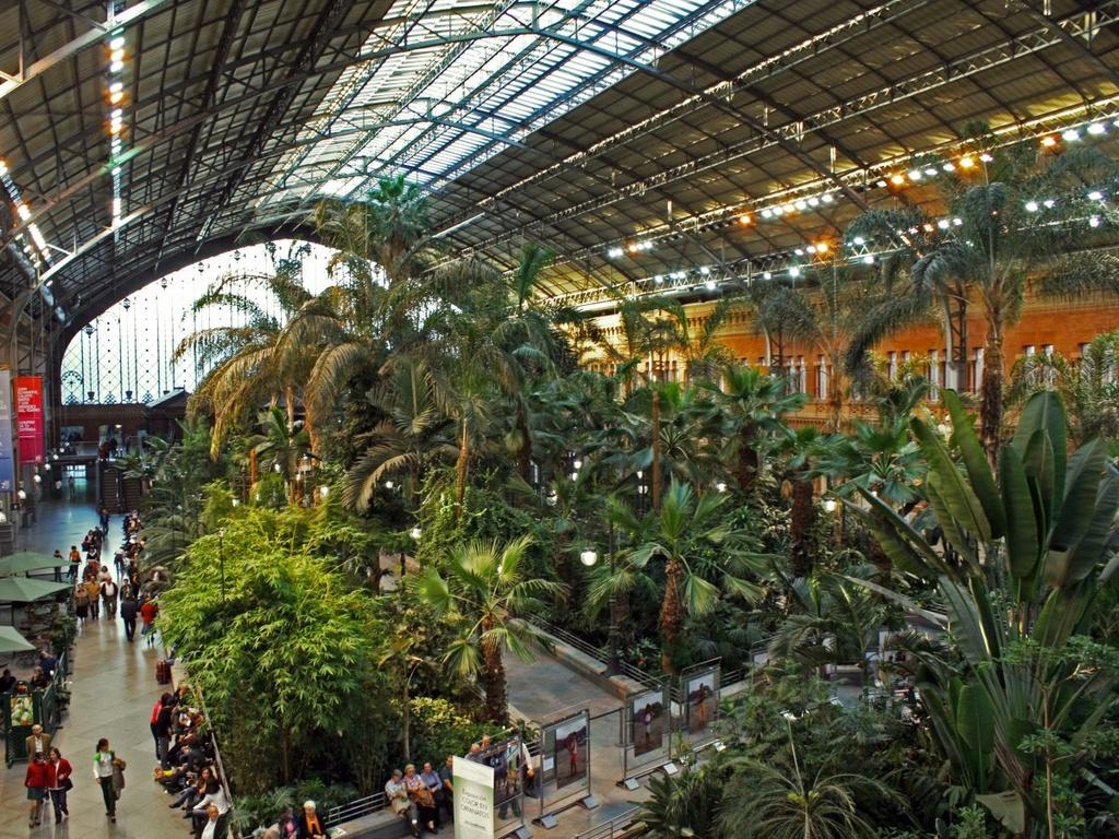 17 ga tau dien ngam long lay nhat the gioi hinh anh 8 Nằm ở Marid, thành phố lớn nhất Tây Ban Nha, ga tàu Atocha gây ấn tượng với khu vườn nhiệt đới và các tác phẩm điêu khắc trong nhà.
