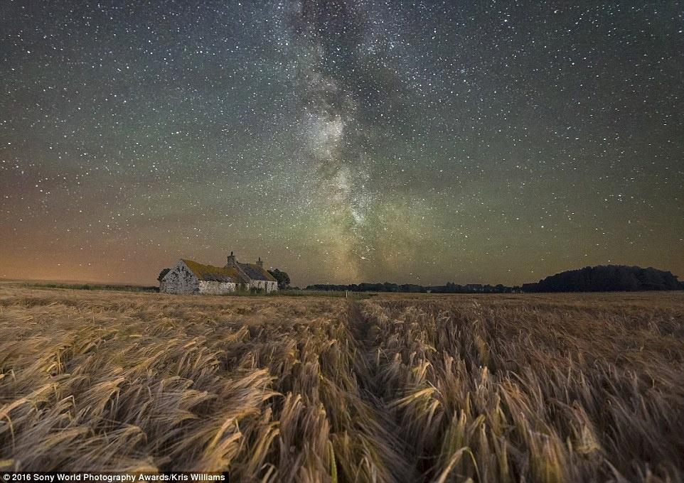 Anh khien du khach chi muon len duong hinh anh 11 Bầu trời sao lộng lẫy trên một trang trại giữa cánh đồng ở đảo Anglesey xứ Wales, ảnh của Kris Williams (Anh).