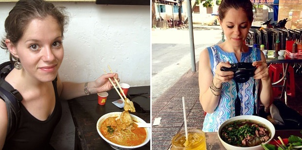Blogger du lich me bun rieu, banh cuon Viet hinh anh 2