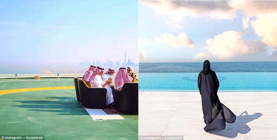 Ben trong khach san Dubai 7 sao 'quyen luc' nhat mang xa hoi hinh anh 8
