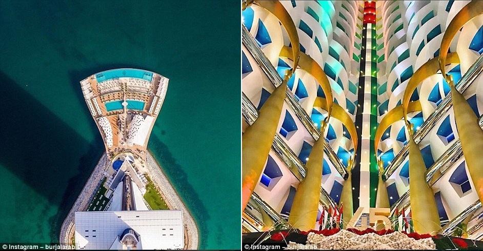 Ben trong khach san Dubai 7 sao 'quyen luc' nhat mang xa hoi hinh anh 9