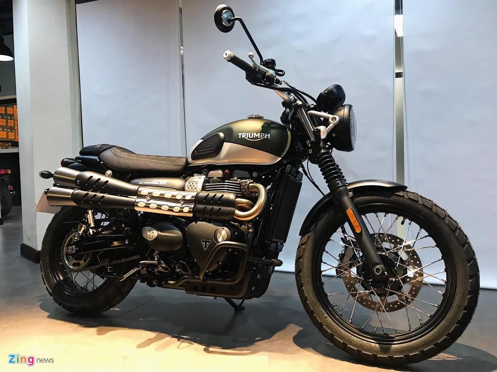 Chi tiet Triumph Street Scrambler 2019 - moto co dien hop chay pho hinh anh 2