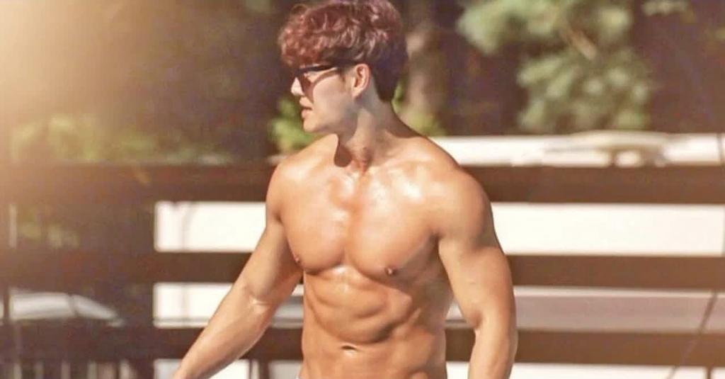 Kim Jong Kook tap gym anh 2