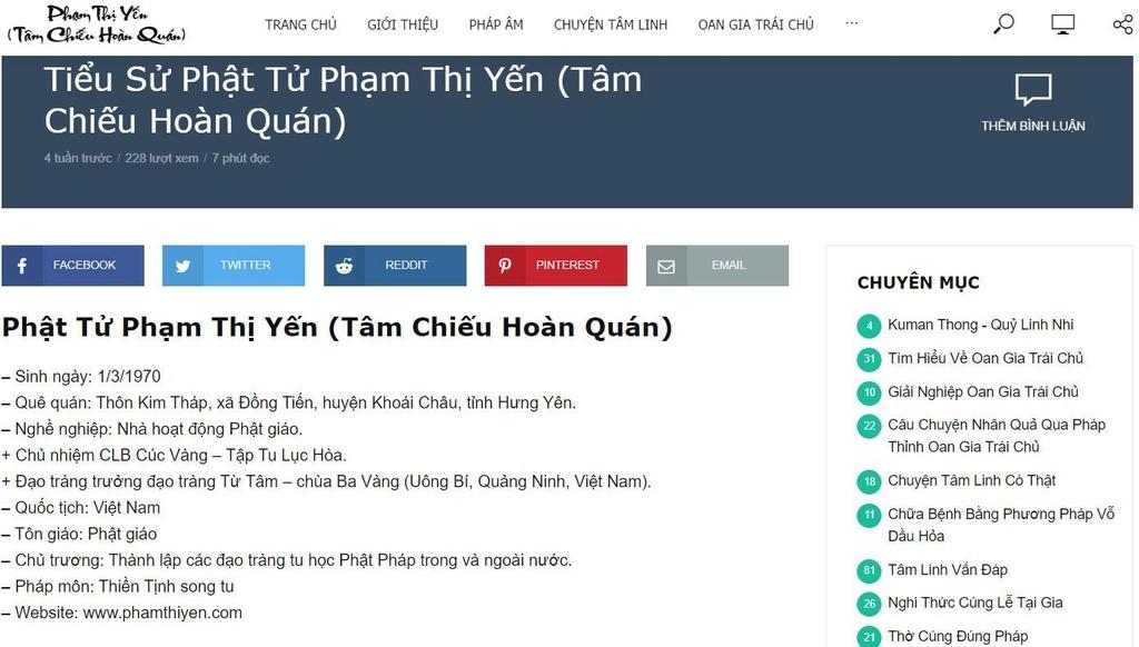 Vu vong bao oan o chua Ba Vang: Ba Pham Thi Yen la ai? hinh anh 2